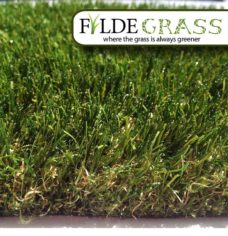 Roma Artificial Grass Side View with Logo