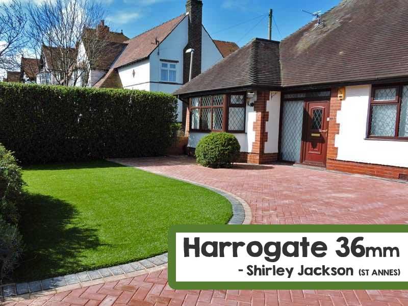 Customer Installed Harrogate Artificial Grass Front Lawn