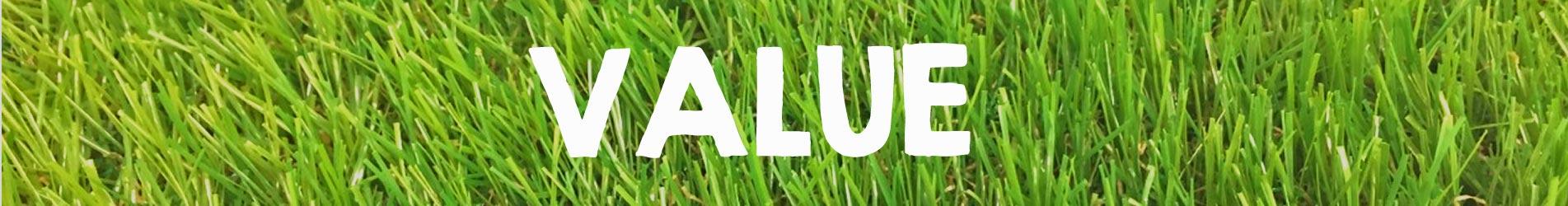 value artificial grass