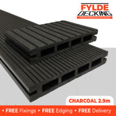 2.9m composite decking charcoal black