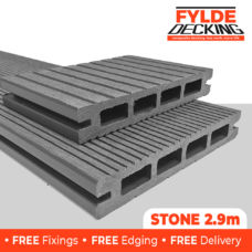 2.9m composite decking stone grey