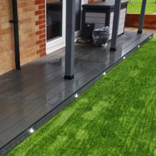 2.9m charcoal black composite decking install
