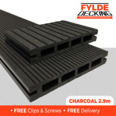 2.9m black composite decking