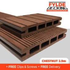 2.9m brown composite decking boards