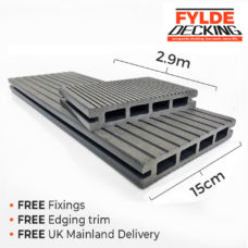 2.9m composite decking grey