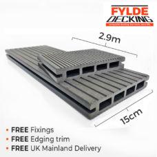 2.9m composite decking grey