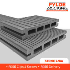 2.9m grey composite decking