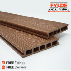 3.6m brown composite decking