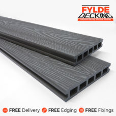 grey woodgrain composite decking 3.6m