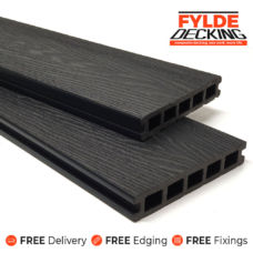 black composite decking boards woodgrain 3.6m