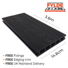 3.6m charcoal composite decking