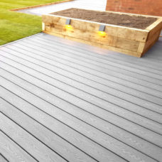 Composite Decking Woodgrain Ash Installed