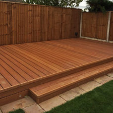 Composite Decking Woodgrain Teak Brown Install