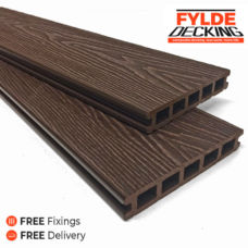 3.6m composite decking chocolate brown
