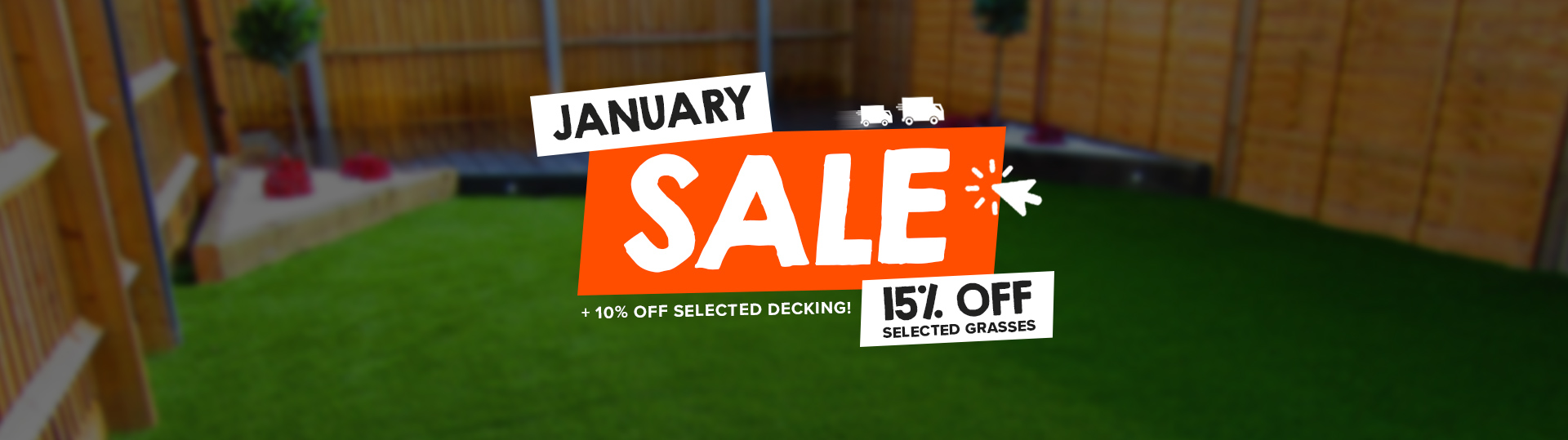Fylde Grass January 2021 Grass and decking sale banner