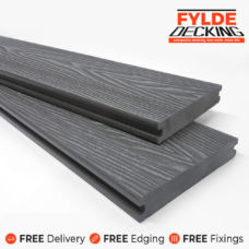 Solid 3.6m decking slate grey board